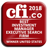 Winner Best Investment Manager Executive Search Firm United States 2018