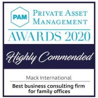 PAM Awards 2020 - Best Business Consulting Firm For Family Offices - Mack International