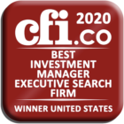 2020 - Best Investment Manager Executive Search Firm