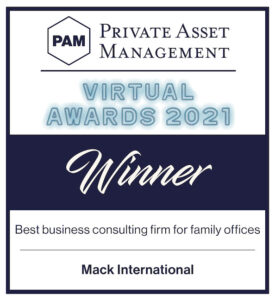 2021 Winner - PAM Best Business Consulting Firm for Family Offices